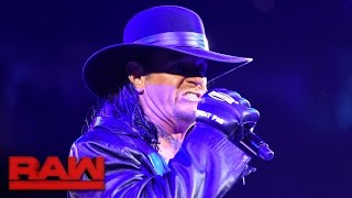 getlinkyoutube.com-The Undertaker makes a chilling Royal Rumble Match announcement: Raw, Jan. 9, 2017