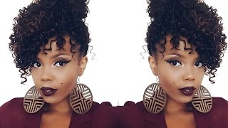 getlinkyoutube.com-ILLUSION #CROCHETBRAIDS FAUX UPDO | #OUTRE 4 IN 1 CROCHET XPRESSION BOHEMIAN CURL | TASTEPINK
