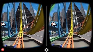 getlinkyoutube.com-VR Roller Coaster - Best 3D SBS VR Roller Coaster for Google Cardboard