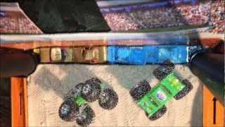 getlinkyoutube.com-HOTWHEELS MONSTER TRUCK DRAG RACING 3
