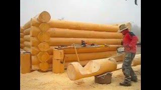 getlinkyoutube.com-BRUNARICE --UNILOG-log home Slovenia -chainsaw master-