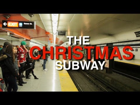 The Christmas Subway: Passengers Sing Rudolph The Red Nosed Reindeer