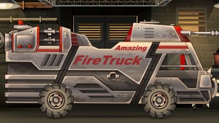 getlinkyoutube.com-Earn to Die 2 - 9th Car (Fire Truck) (Fully Upgraded Though The Whole Track)
