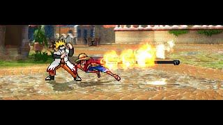 getlinkyoutube.com-Naruto RTN Hokage VS Monkey D Luffy in M U G E N