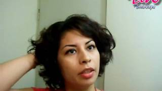 getlinkyoutube.com-Peinado para cabello corto con Gel de Linaza