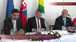 Tlač. konf. výjazd vlády SR - Fiľakovo