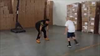 Fatell Plays Basketball With Carson Lueders
