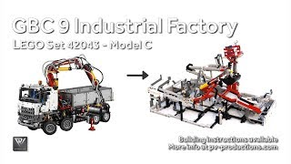 getlinkyoutube.com-LEGO GBC 9 (4 modules - 1 motor) - 42043 C model Mercedes-Benz Arocs 3245