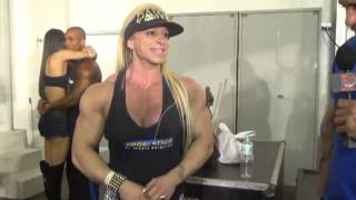 getlinkyoutube.com-Amazing Muscle of Anne Freitas at 2014 Arnold Brazil Expo