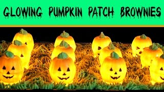 Chocolate Brownie Pumpkin Patch Recipe | How to Make GLOWING Halloween BROWNIES Pie