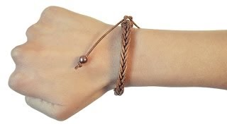getlinkyoutube.com-Loom bands EVO - V tutorial braccialetto cordino in cuoio naturale