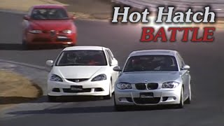 getlinkyoutube.com-[ENG CC] Hot Hatch Battle - Integra R DC5, BMW 130i M, Golf R32, 147 GTA, Audi A3 Tsukuba 2006