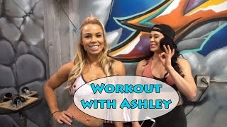 I showed Ashley Kaltwasser my moves!