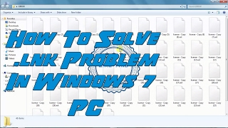 How to fix windows all file in white in windows 7 ( .lnk Problem)