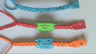 getlinkyoutube.com-Manualidades para regalar - pulseras de goma eva - Manualidades para todos