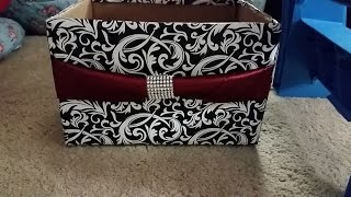 getlinkyoutube.com-DIY: how to make storage box from diaper box organize/decorate room closet