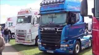 getlinkyoutube.com-Truckfest 2015 Peterborough Part 1. Scania Volvo Daf Mercedes semi trucks Broke FMX