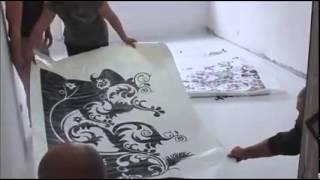 getlinkyoutube.com-Pintura de Piso artístico em 3D