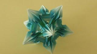 getlinkyoutube.com-kusudama - modular origami - Spides: icosahedron - tutorial - dutchpapergirl