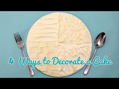 4 Fun Ways to Decorate a Cake! Gemma's Bold Baking Basics Ep 34