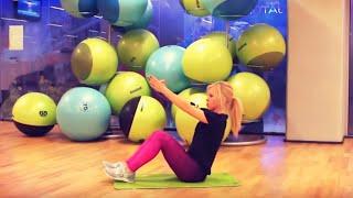 getlinkyoutube.com-Trening na brzuch i boczki! Ćwiczenia na mięśnie brzucha | Codziennie Fit