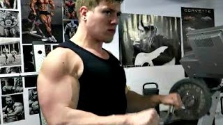 getlinkyoutube.com-The struggle for big arms naturally...