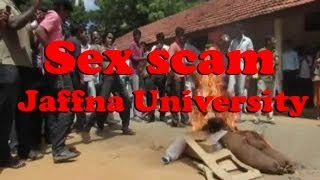 Sex Scam in Jaffna University -- Student Protest [RED PIX]
