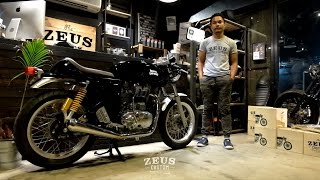 getlinkyoutube.com-Review: Zeus Custom Exhaust for Royal Enfield Continental GT