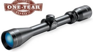 Sighting the Tasco Pronghorn 3-9x40 (Cheapest Riflescope 2016)