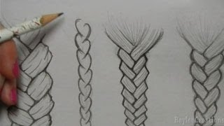 getlinkyoutube.com-How to Draw Hair: Braids