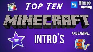 getlinkyoutube.com-Free TOP TEN!!! | Minecraft Intro Templates|  Movie Maker, Imovie, After Effects