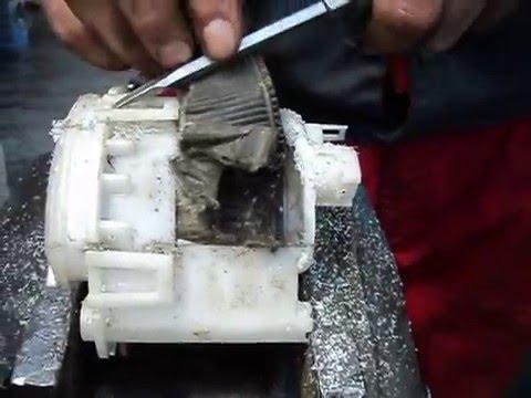 Топливный фильтр оригинал Lexus RX 330 после 100 тыс пробега3