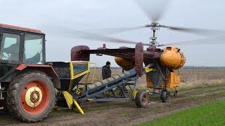 getlinkyoutube.com-Kamov Ka-26 spreading solid fertilizer near Kápolnásnyék