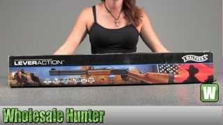 getlinkyoutube.com-Umarex Walther Lever Action CO2 .177 Pellet Nickel 2252005 Shooting Gaming Unboxing