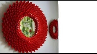 getlinkyoutube.com-حولى مرايا صغيرة الى تفحة فنية لتزيين الحائط باستخدام المشابك او ملاعق الطعام البلاستيك