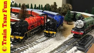 getlinkyoutube.com-Flying Scotsman Train Collection | Royal Scot | Flying Scot | Thomas & Friends