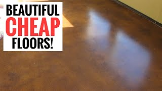 getlinkyoutube.com-Amazingly cheap and stunning floors - DIY Stained Concrete