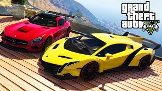 getlinkyoutube.com-GTA 5 Car Mods #5 - Lamborghini Veneno, BMW i8, Mercedes-Benz AMG GT and More [Mod Showcase]