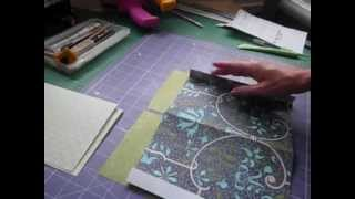 How to Tutorial - Quick and easy with a simple binding mini album part 1