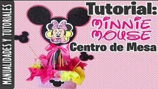 getlinkyoutube.com-Centro de Mesa de Minnie Mouse (TUTORIAL) Ideas para fiestas!