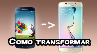 getlinkyoutube.com-Como Transformar seu Galaxy s4 Em Um Galaxy S6 Edge Plus - Rom Super WizCyan De-bloated