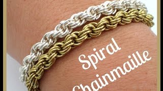 getlinkyoutube.com-Must Know Monday (10/3/16) Spiral Chainmaille