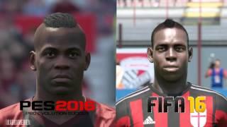 getlinkyoutube.com-PES 2016 vs FIFA 16 AC Milan Player Faces Comparison