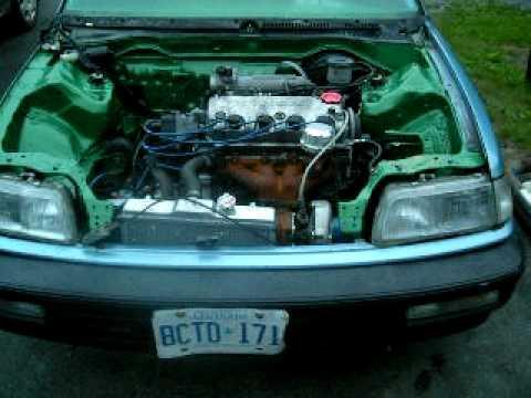 D15b Startup in EF Civic Sedan