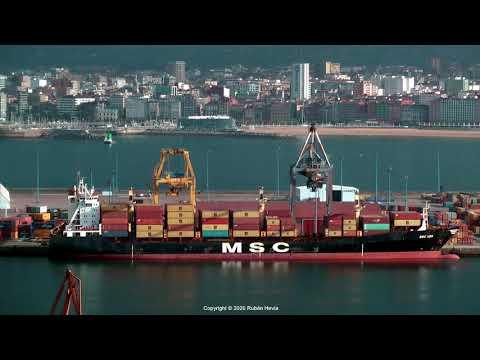 Click to view video MSC UMA IMO 9163192 CQIV8 PORTUGAL grabado en GIJON en HD el 22.10.2020 por Ruben Hevia.