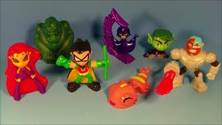 getlinkyoutube.com-2014 DC COMICS TEEN TITANS GO! SET OF 6 SONIC DRIVE-IN KID'S MEAL TOY'S VIDEO REVIEW