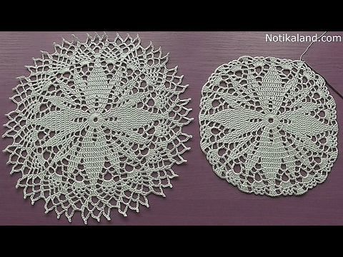 Crochet How to crochet doily Part 4  12   14 round    Crochet doily rug tutorial