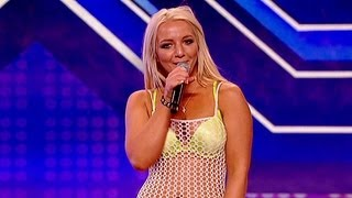 getlinkyoutube.com-Lorna Bliss's audition - Britney Spears' Till The World Ends - The X Factor UK 2012