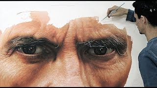 getlinkyoutube.com-Hyper-realistic oil painting on canvas - fabiano Millani (Father)
