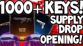 getlinkyoutube.com-BLACK OPS 3 1000+ CRYPTOKEY SUPPLY DROP OPENING REACTION! BIGGEST OPENING EVER! BO3 RARE EPIC CAMOS
